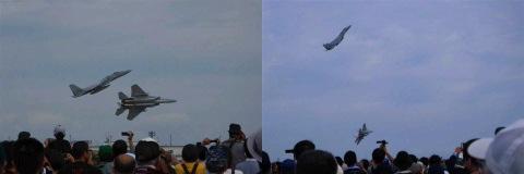 小松基地の F-15J 機動飛行