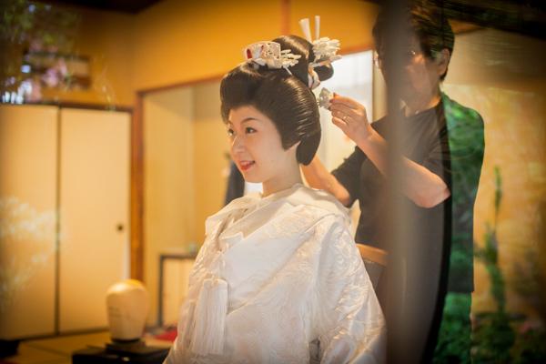 熊本 料亭 結婚式 和装 ヘアメイク 花嫁 写真 田中よしひろ