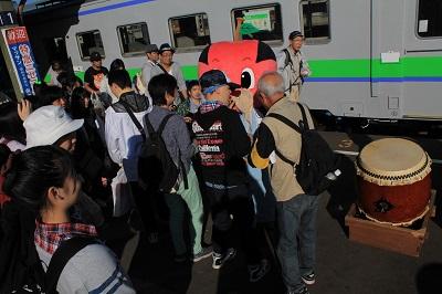 ひまわり号 余市駅 ソーラン武士 2015年9月27日 422