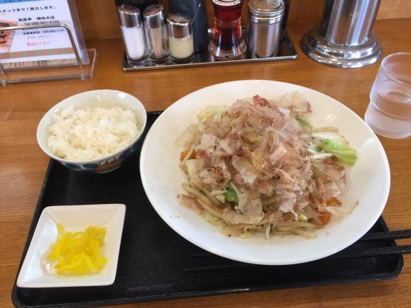 野菜炒めとご飯4