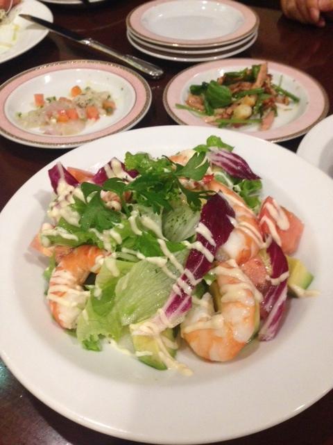 えびとアボガドのサラダ