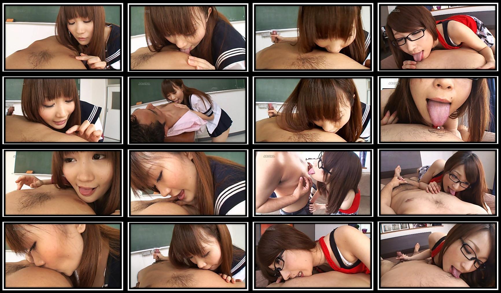 乳首舐め娘1