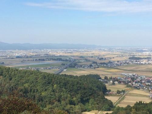2015-10-17箕冠山からの新幹線