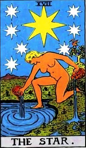 タロットカード星 by占いとか魔術とか所蔵画像