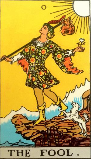 タロットカード『愚者』 by占いとか魔術とか所蔵画像