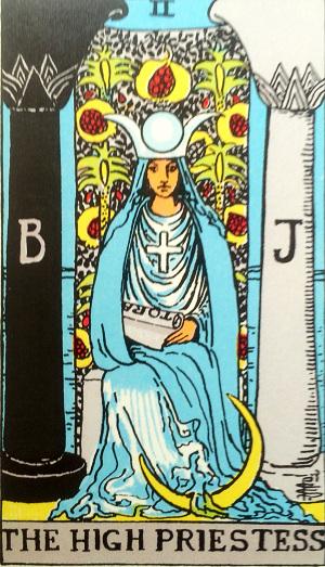 タロットカード『女教皇』 by占いとか魔術とか所蔵画像