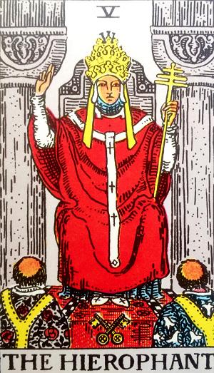 タロットカード『教皇』 by占いとか魔術とか所蔵画像