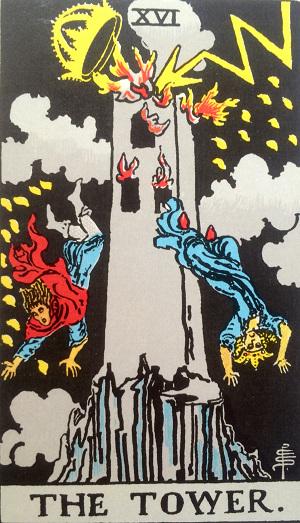 タロットカード『塔』 by占いとか魔術とか所蔵画像