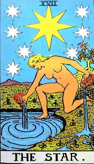 タロットカード『星』 by占いとか魔術とか所蔵画像