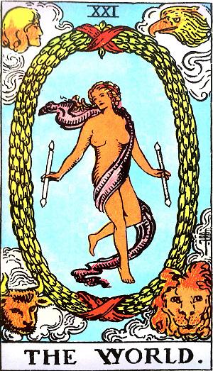 タロットカード『世界』 by占いとか魔術とか所蔵画像