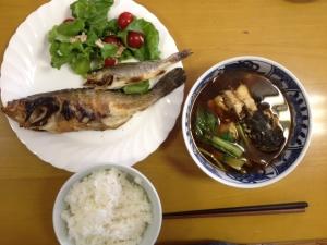 釣った魚たちの調理後(四日市霞埠頭 2015.10.08)