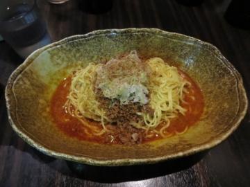 汁なし坦々麺(辛さ×2) 580円(カレー味)