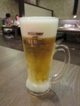 生ビール(中) 500円