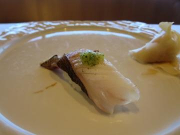 イサキ炙り・胡瓜ポン酢