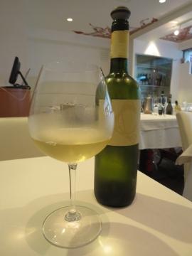 グラスワイン一杯目