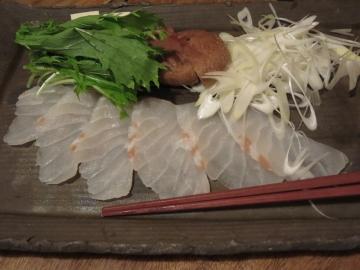 アラ、豆腐、春菊、椎茸、白葱
