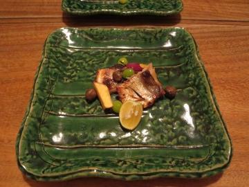 叺のつけ焼き、金時芋、銀杏、ムカゴ
