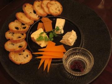 チーズの5種盛り 1850円