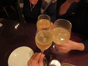 女子会乾杯!