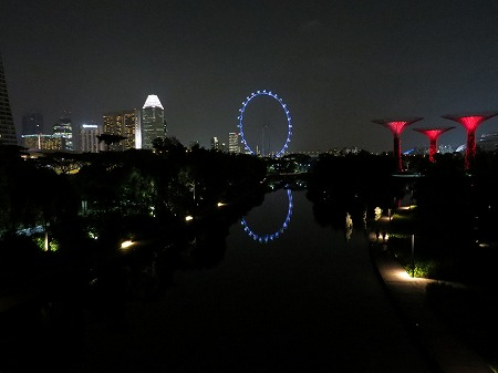 シンガポールベイエリアの電飾