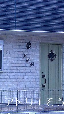 猫壁飾り設置写真