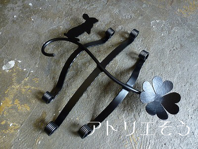 オリジナルアルミ製妻飾りHタイプ+うさぎ+クローバー