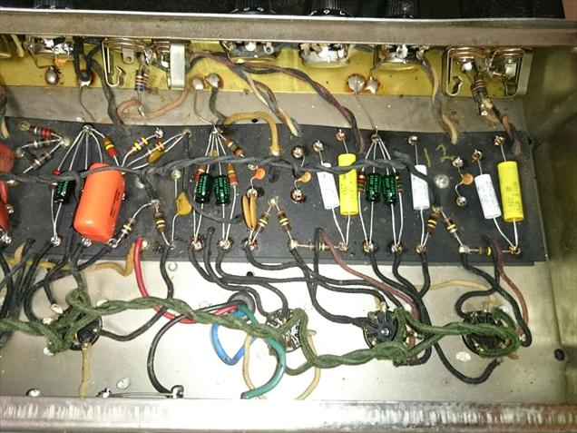 入力&トーンスタック&リバーブ回路