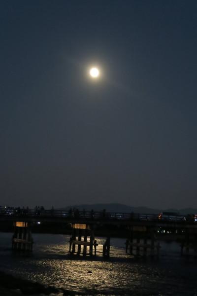 渡月橋の月2