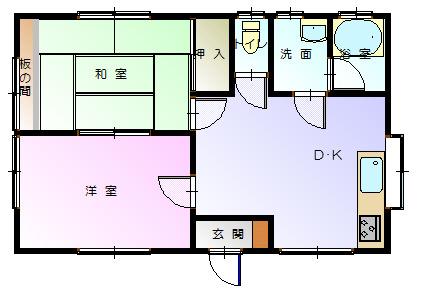 鳥塚貸家-平面図( 1 階)
