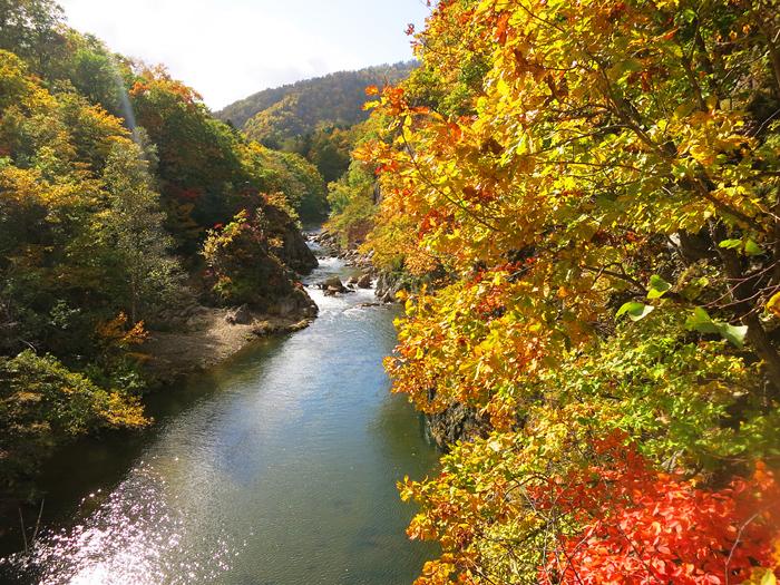 定山渓 紅葉 かっぱ渕