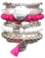 B11 brazilia hot pink bracelet set (2)