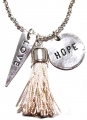 W38 Long charm tassel necklace silver (2)
