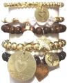 Brand New W836 Choc heart set charcoal gold (1)