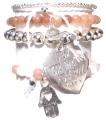 A306 Crystal heart bracelet set (1)