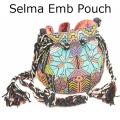 Selma Emb Pouch navy multi1