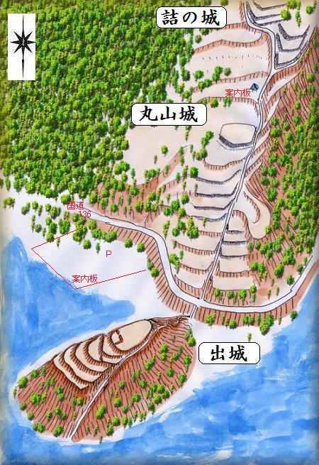 丸山城縄張り図