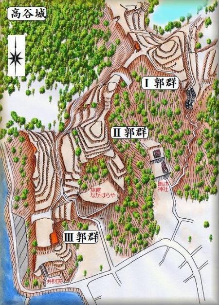 高谷城縄張り図