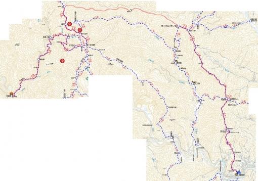 青梅線沿線の低山ハイク ルート