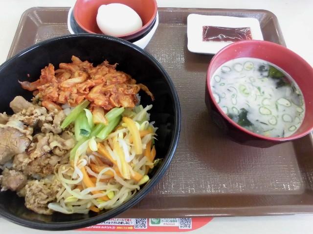 5 牛ビビンバ丼定食 580円