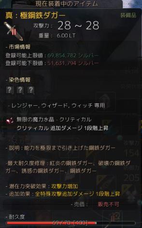 2015/10/19 鋼鉄ダガー+17!(; ・`д・´)