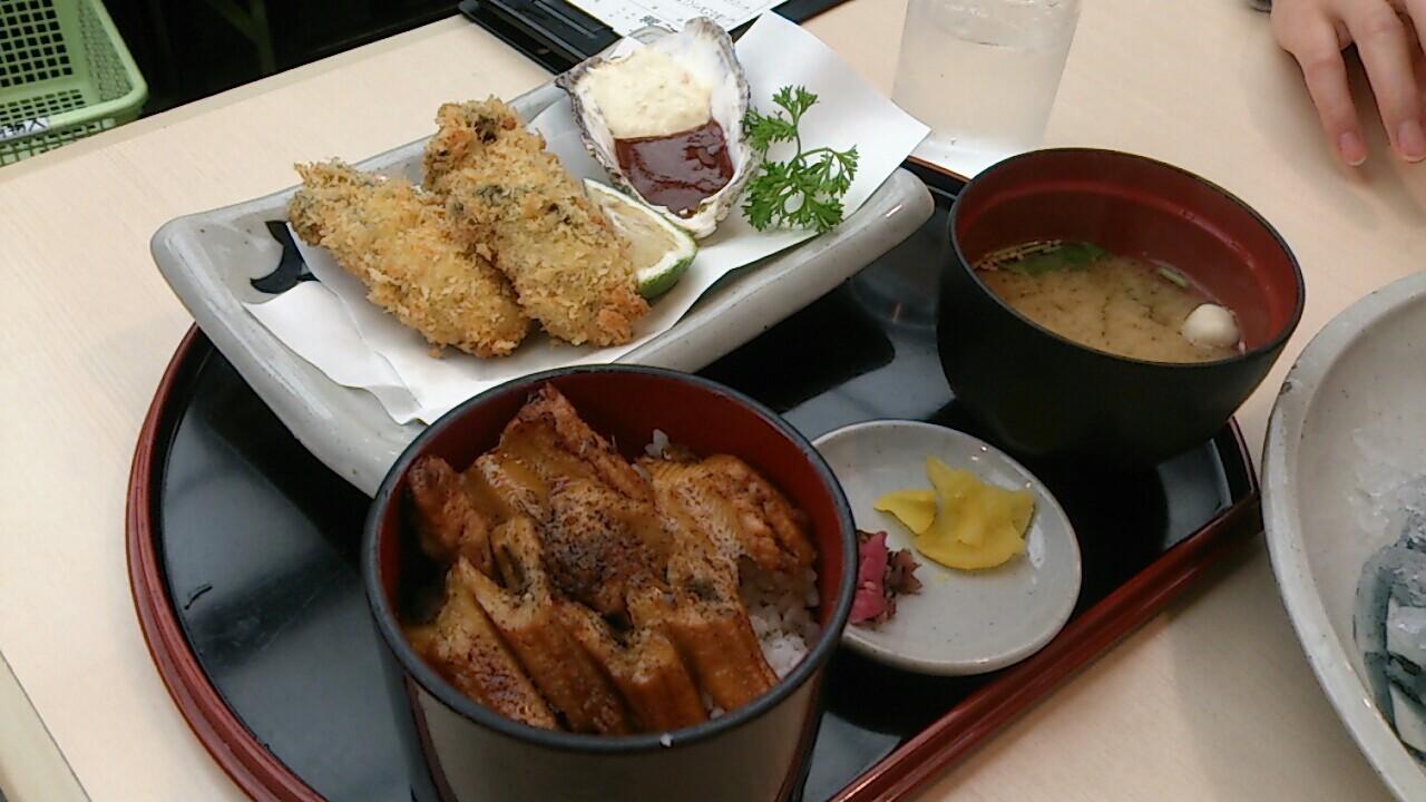 牡蠣フライ・穴子飯