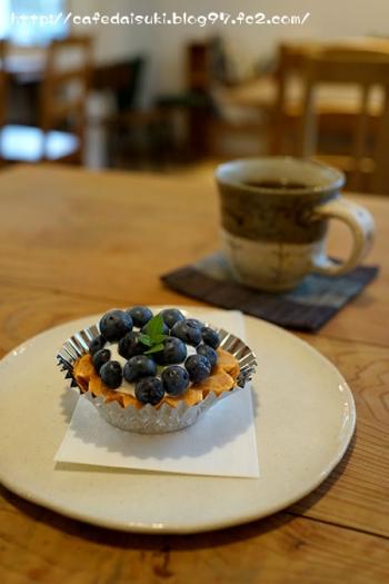 cafe木々音◇ブルーベリーのタルト