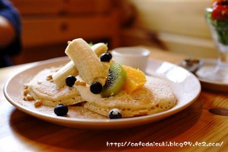 森のvoivoi◇バナナとブルーべリーのパンケーキ