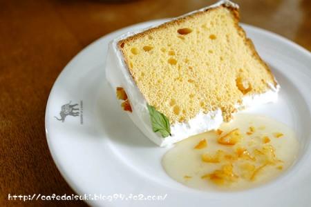 NASU SHOZO CAFE◇オレンジのシフォンケーキ