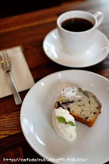 cafe tree◇そのときのパウンドケーキ(ダークチェリー)&コーヒー(グァテマラ)