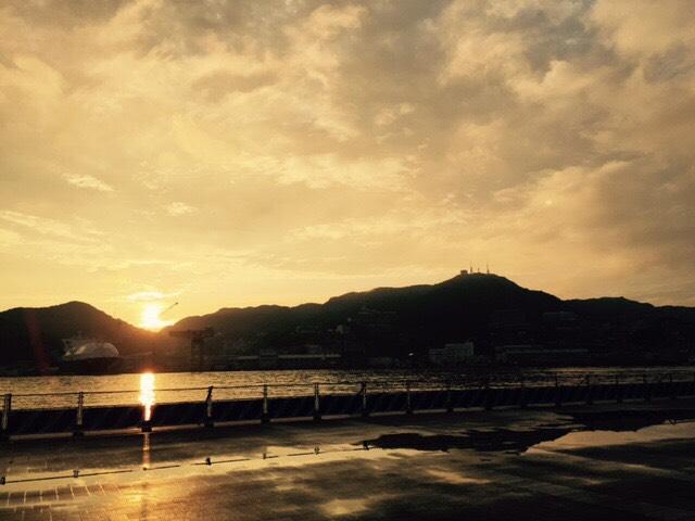 稲佐山の夕日