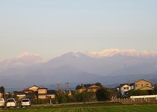 初冠雪の立山