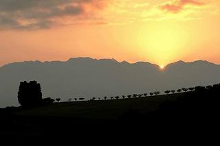 丘の夢牧場の日の出