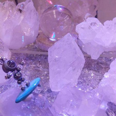 水晶がいっぱい