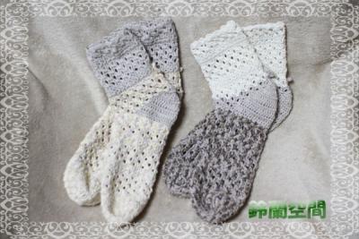 編みソックス 2種類